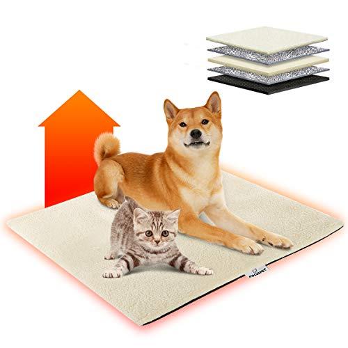 Focuspet Manta Térmica para Gatos y Perros,Alfombra de Cama para Mascotas Auto...