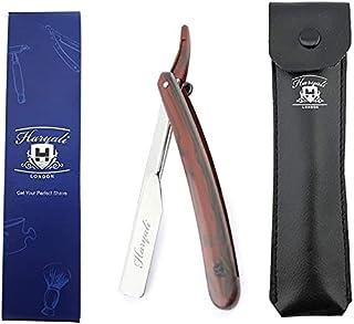 Profesjonalna maszynka do golenia z prostym cięciem gardła tradycyjna maszynka do golenia dla mężczyzn w skórzanym woreczk...