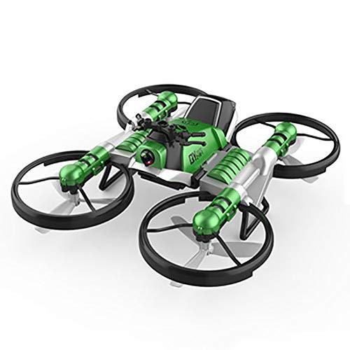 RC Drone, 2 en hélicoptère 1motorcycle avec Le Mode de Maintien d'altitude, Une clé de décollage et d'atterrissage, Le Mode sans tête Fun Cadeau pour Les Enfants,Bleu,2 Batteries