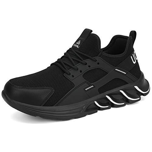 UCAYALI Zapatos de Seguridad Hombre Zapatillas de Trabajo Mujer Zapatillas de Seguridad Deportivos Zapatos con Punta de Acero Blanco Gr.46