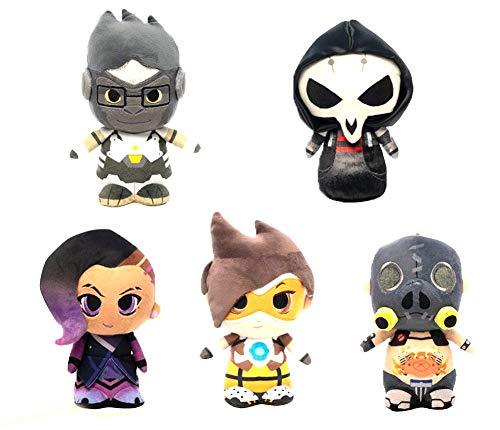 Funko Supercute Plush: Overwatch - Winston, Reaper, Sombra, Tracer, Roadhog Collectible Figures Set of 5