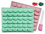 Silikonform in Fischform, 2 Stück, BPA-frei, LFGB/FDA-zugelassen, perfekt für selbstgemachte...