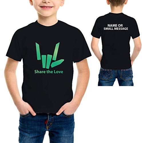 MGEAR Share Stephen Sharer Youtuber Jongens Groen Metallic Print T-shirt op maat tekst gedrukt tee verjaardagscadeau