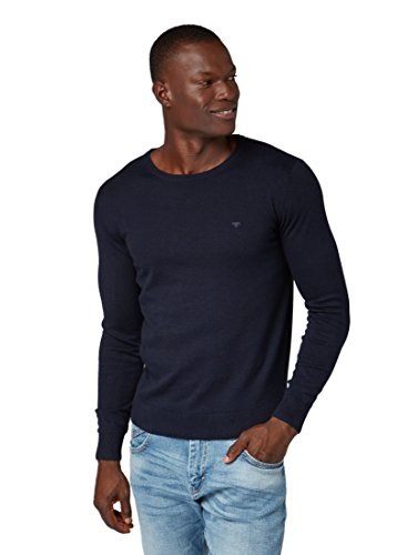 TOM TAILOR Herren 30228800910 Pullover, Blau (Navy Eclipse 6298), M