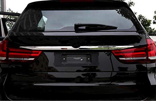 10JQK Cubierta de la Tapa Maletero Puerta Trasera Coche de Acero Inoxidable Trim para BMW X5 F15 2014 2015, Pegatina Tira Moldura Decoración Protector Accesorios Estilo, Cromo