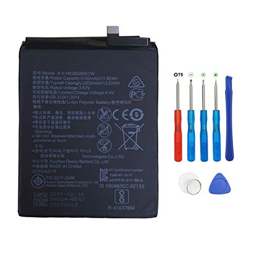 Swark hb386280ecw bateria para Huawei P10 Honor 9 con Herramientas