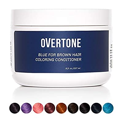oVertone Haircare Deep Conditioner   Semi-Permanent Coloring Conditioner Deposits Pigment + Nourishes with Shea Butter + Coconut Oil, Safe for All Hair Types, Vegan, Cruelty-Free   8 Oz