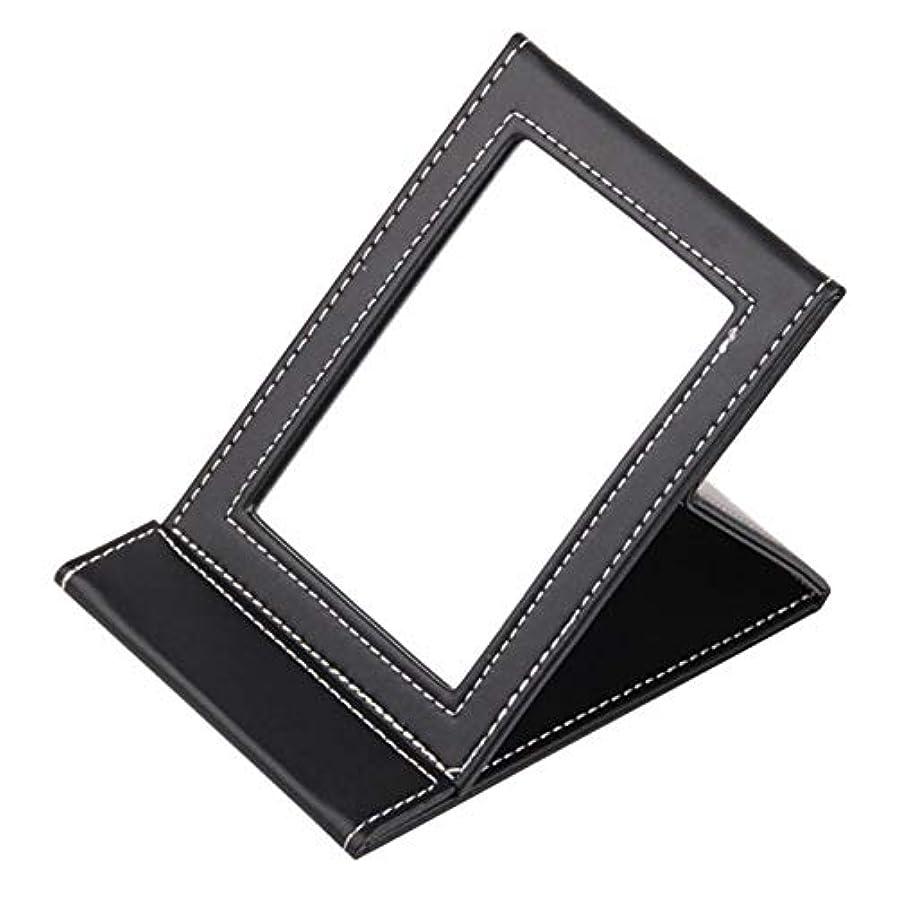 相対的り悲観的化粧鏡 美の必要な構造ミラーの黒い長方形のFoldableポータブル