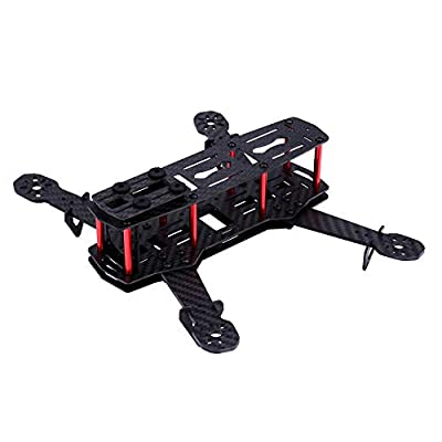 Drone Frame Kit, 2 Types 250MM Quadcopter Aircraft Drone Frame Kit RC Accessory for QAV250(Carbon Fiber)