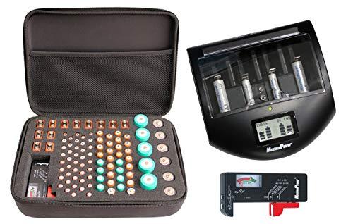 MaximalPower Universal Ultra Smart Charger FC997 for Alkaline NiMh NiCd Li-ion AA AAA C D 9V Battery Cells Charger (Battery Charger & Organizer Case & Tester)