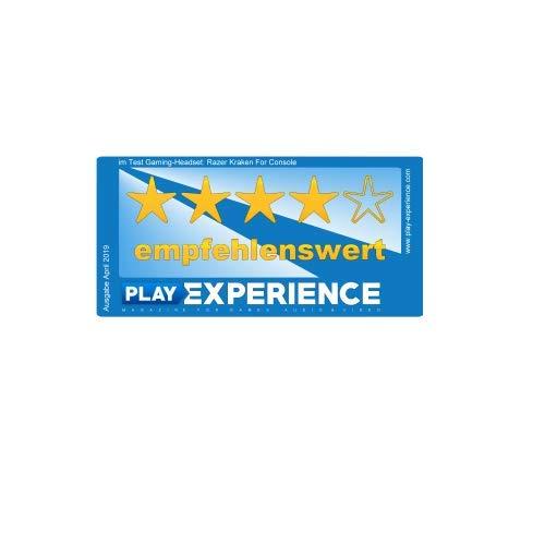 Razer Kraken for Console - Kabelgebundenes Gaming Headset (PC, PS4, Xbox One, Nintendo Switch) Mit 50mm Treiber, Einziehbares Mikrofon Und Mit Kältegel Gefüllten, Ovalen Ohrpolstern) Schwarz-Blau