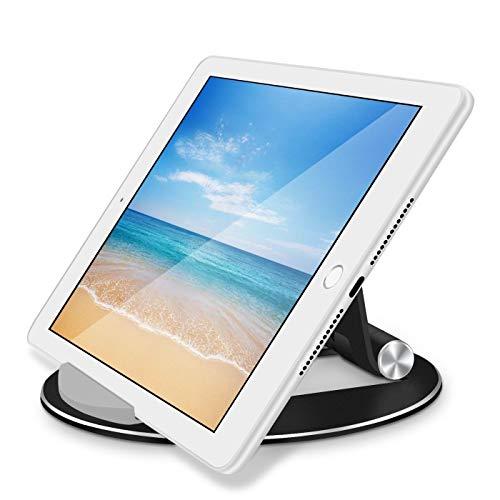 QiuKui Tab Funda para iPad 2018 2 3 4 Pro 11 2020 10.5, Soporte de la Tableta Soporte de la Caja del Soporte de la Tableta de Aluminio para iPad Air 2 Air 1 Mini 5 2019 (Color : Negro)