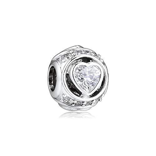 LILIANG DIY Fit Charm Bracelet 925 Sterling Silver Clear Stones Cuentas De...