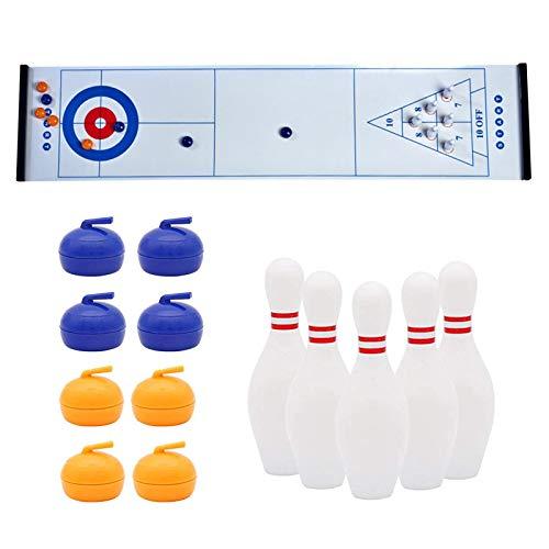 QLPXY Juego 3 en 1 de rizador de mesa, juego familiar para viajes en casa, escuela, rompecabezas divertido juego educativo regalo para niños y adultos