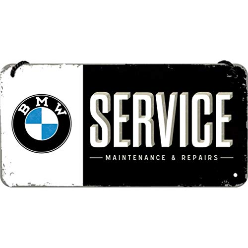 Retro BMW Service Metal Sign