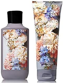 Bath and Body Works Almond Blossom Ultra Shea Body Cream 8 Oz and Body Lotion 8 Oz.