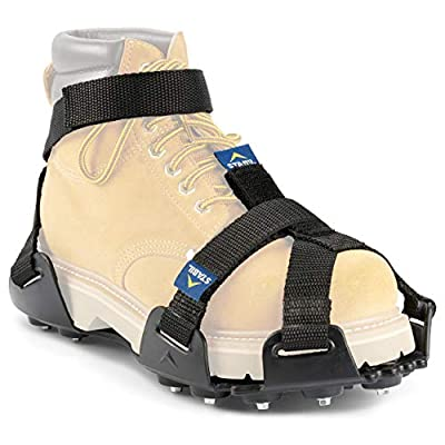 STABILicers Maxx 2 Heavy-Duty Traction Cleats for Job Safety in Ice and Snow, Black, Large (Shoe Size: W 12+/ M 10.5-12)
