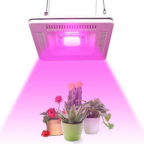 Pflanzenlampe LED 100W Wasserdichte Pflanzenlicht Vollspektrum Wachstumslampe 42 LEDs für Zimmerpflanzen Gewächshaus mit Ein/Aus Schalter, Geräuschlos