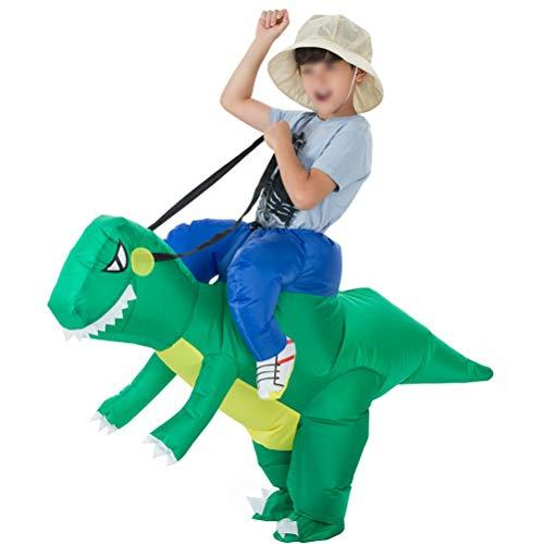 Mallalah Traje inflable de dinosaurio T-Rex Disfraces de Halloween Blow up Disfraces Adultos/Niños size Niños