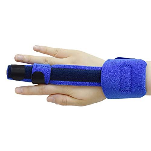 NQCT Férula de Dedo Ajustable Article Estabilizador Estabilizador Trigger Finger Mano Soporte Recuperación PRaza Herramienta Auxiliar 0612