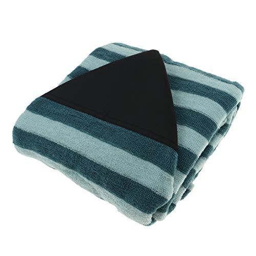 P Prettyia Bolsa de Almacenamiento de Surfboard, Cubierta para Tablas de Surf Padscon Rayas de Verde y Negro, 25 Tamaño Opcional - 7,3 pies