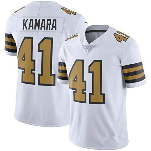 NBJBK Männer NFL Football Jersey, Saints 41# Kamara 9# Fußball Sportswear Kurzarm Sport Top T-Shirt,A-41,XL