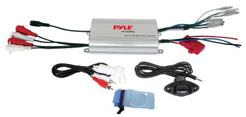 Pyle PLMRMP3A - Amplificatore a 4 ingressi per MP3/iPod, impermeabile