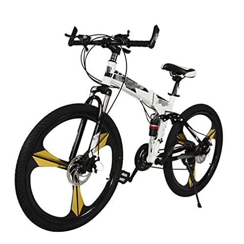 Bicicleta De MontañA Plegable,Bicicleta De Ciudad,MúLtiples Opciones De Modo De Velocidad,Ruedas De 26 Pulgadas,Apto Para Hombres/Mujeres/Adolescentes,Varios Colores