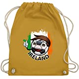 Shirtracer Fußball - Fußballjunge Irland - Unisize - Senfgelb - WM110 - Turnbeutel und Stoffbeutel aus Bio-Baumwolle