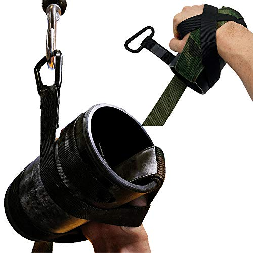 Muñeca llave pulsera Mango lucha, muñeca antebrazo agarre, manijas de cable máquina polea, superficie antideslizante, tubo de nylon negro, correas doble capa 1 m, para bíceps en rizo, entrenamiento