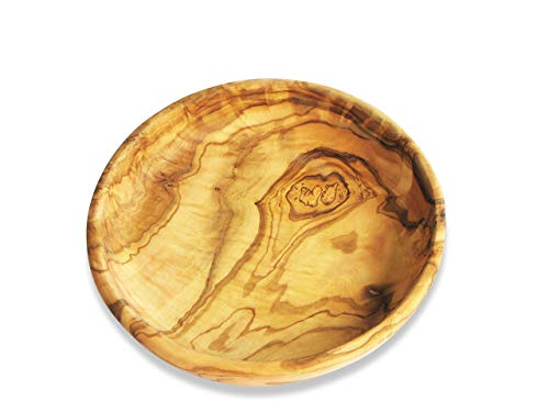 Figura Santa Bol Rond en Bois d'olivier LAMAMMA - diamètre Environ 15 cm. Bois d'olivier joliement coloré – traité avec de l'huile végétale Pure. Chaque Bol est Unique.