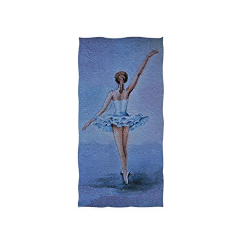 CPYang Handtuch, Motiv: Ballerina, sehr saugfähig, für Zuhause, Küche, Badezimmer, Fitnessstudio, Schwimmen, Spa