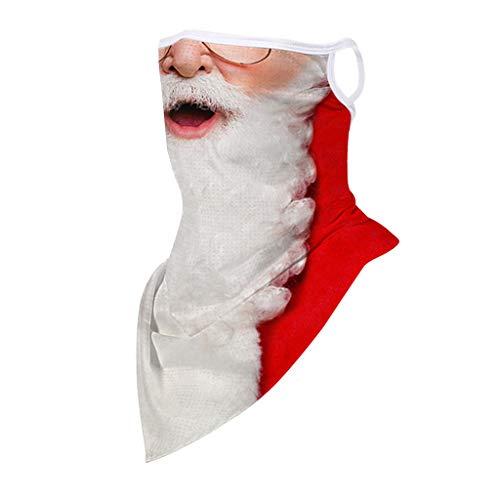 ShaDiao 1 Stück Damen Lustiger Gesichtsschutz mit hängendem Ohr Mode bedruckter Mundschutz Waschbares Gesicht Bandanas Outdoor Mund und Nase bedecken Halstücher
