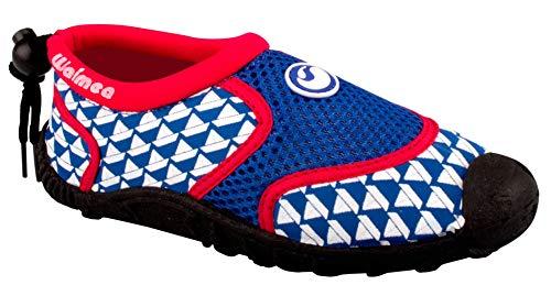 Schreuders Sport pour Enfant Imprimé Waimea Aqua Chaussures, en Néoprène, Enfant, Waimea, Cobalt Blue/Red/White, 30