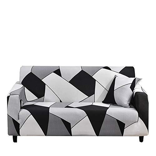 Yinnn Moderno Cubre Sofa Chaise Longue, Cubre Antideslizante, Protector Ajustables de Sofá, con Diseño Elegante UniversalFunda, con Cuerda de fijación 4-Seater 235-300cm Line