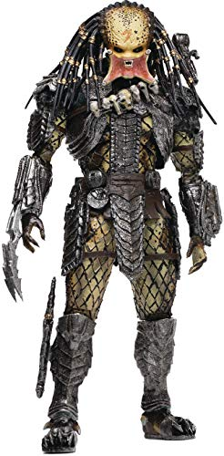 Hiya Toys Alien vs. Predator: Unmasked Scar Predator 1:18 Scale Action Figure, Multicolor