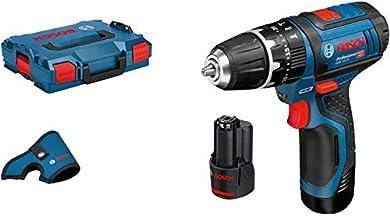 Foto di Bosch GSB 12V-15 Professional, Trapano Battente - Avvitatore a Batteria, Valigetta L-BOXX con 2 batterie da 2,0 Ah al litio e inserto