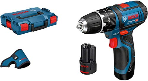 Bosch Professional Accuschroevendraaier GSB 12V-15 (2x 2,0 Ah accu's, 12 volt-systeem, boordiameter in hout max.: 19 mm, in L-BOXX)