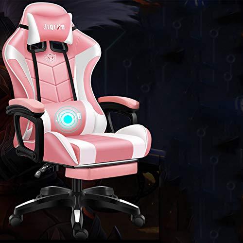 Verwendet, um Spiele zu spielenHochwertiger ergonomischer Stuhl (anpassbar) Gaming Stuhl Bürostuhl High Back Computer PU-Leder mit Bluetooth-Lautsprechern Musik Videospielstuhl Justierbare Rückenlehne