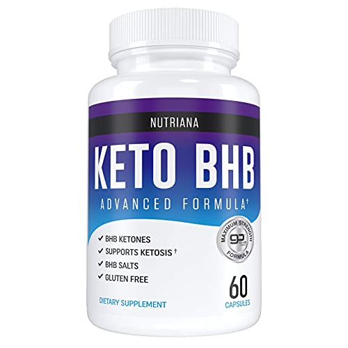 Nutriana Keto Diet Pills for Women and Men - Keto Supplements Bhb for Ketosis - Bhb Salts Exogenous Ketones - 30 Day Supply