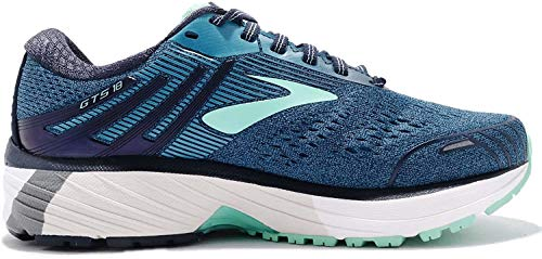 Brooks Damen Adrenaline Gts 18 Laufschuhe, Blau (Navy/Teal/Mint 495), 42 EU thumbnail