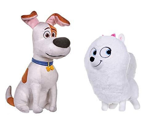 Secret Life Of Pets 2 - 25cm 10' - Sitting Max & Gidget - Super Soft Gift Quality Plush - S1