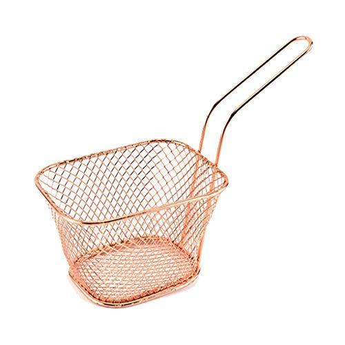 Diveimai Stainless Steel Metal Basket French Fries Basket Mini Frying Storage Holder
