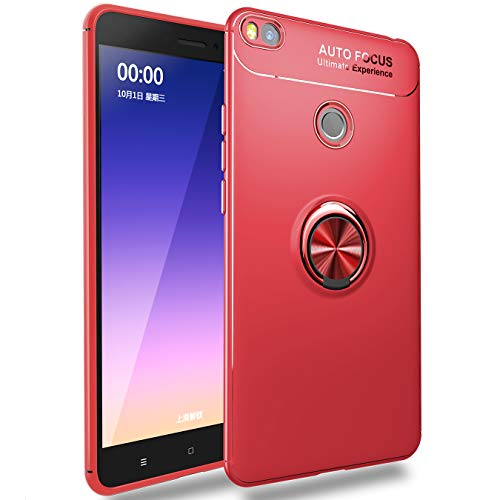 J&H Xiaomi Mi Max 2 Ring Case, Xiaomi Mi Max 2 Ultra Thin Soft TPU Protective Case, Case Loop para dedo com anel giratório de 360 graus para Xiaomi Mi Max 2
