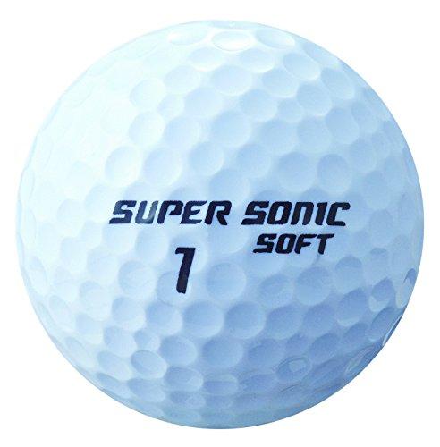 キャスコ(Kasco) ゴルフボール SUPER SONIC SOFT 日本製2ピースボール メンズ SUPER SONIC SOFT JP ホワイト 10個入 カバー素材:アイオノマー