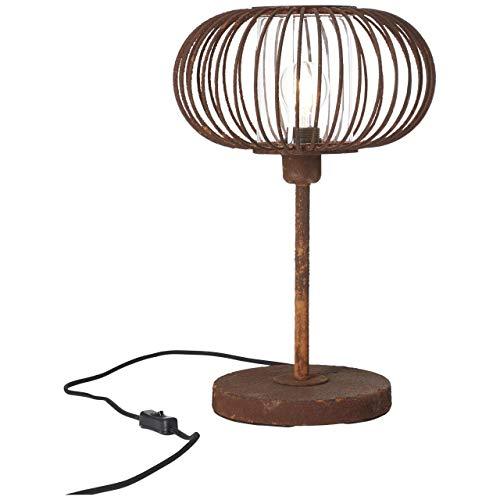 Brilliant Willard Lámpara de mesa de color oxidado, 1 x A60, E27, 60 W, lámparas normales. Con interruptor de cadena, adecuado para bombillas LED