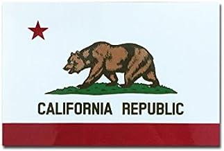 カリフォルニア 州旗 ステッカー ( スーツケース ・ 車 にも貼れる 防水 シール ) (L 約120mmx80mm)
