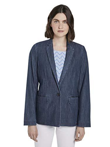 TOM TAILOR Damen Blazer & Sakko Jeans Blazer Dark Stone wash Denim,38,10282,6000