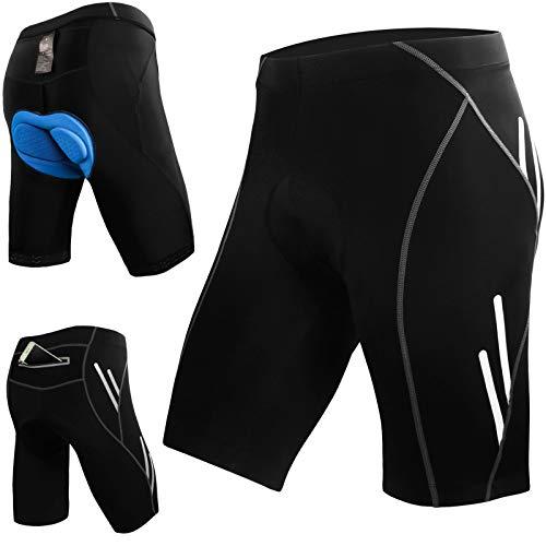 JOYSPACE Short de Cyclisme Short de Sports Homme Cuissard pour Cycliste avec 4D Rembourrage Pantalons Court de Vélo pour Jogging VTT Randonnée Montagne,XL