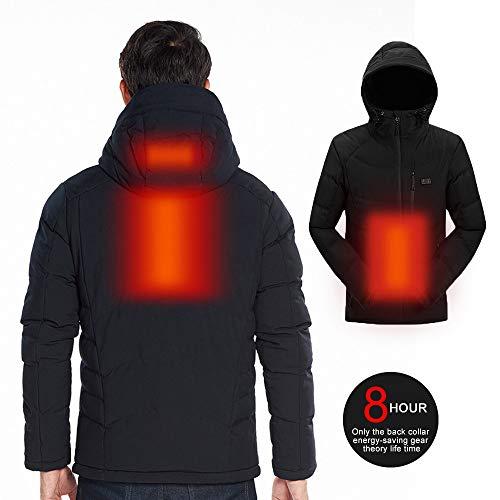 Roboraty Abrigo de Carga USB para Hombres, Chaqueta con calefacción, Ropa de...